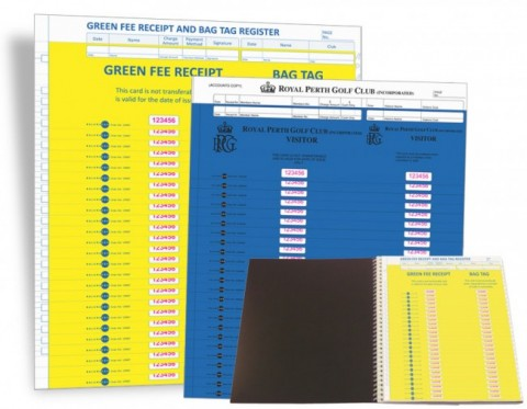 Green Fee Receipt & Bag Tag System