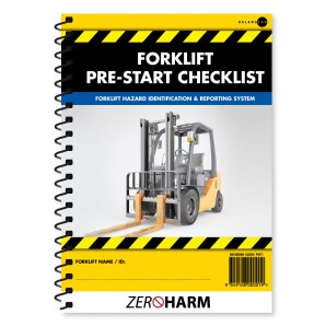 Forklift Pre-Start Checklist Book