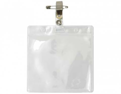 Visitor Pass Holder With Clips