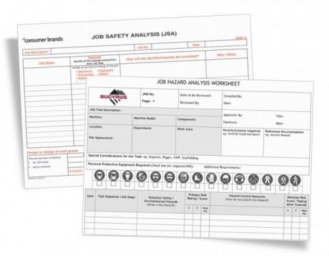JSA JHA Form Printing