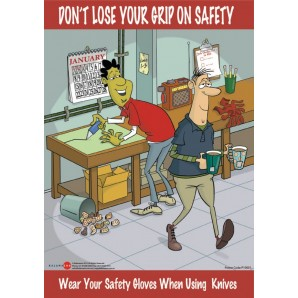 Wear Safety Gloves Poster
