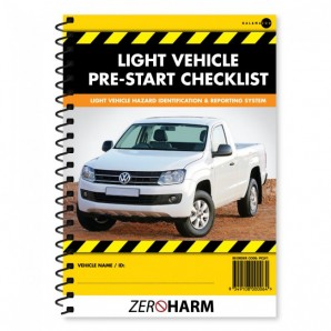 Light Vehicle Pre-Start Checklist Book