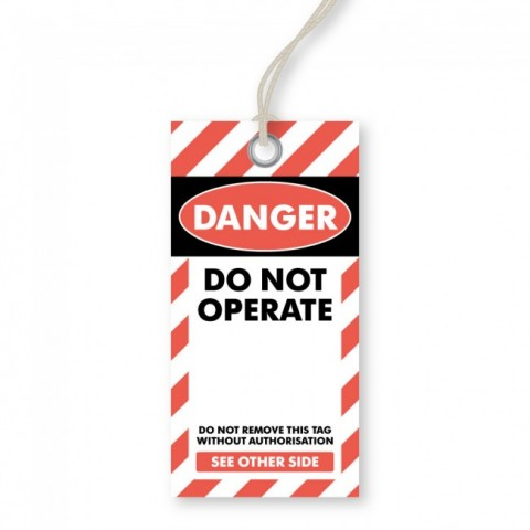 Danger - Do Not Operate Tags