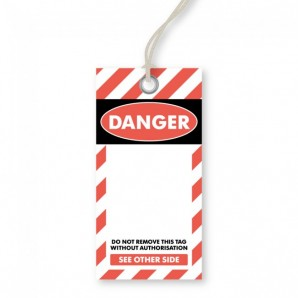 Blank Danger Tags