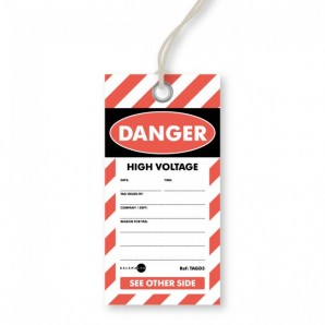Danger - High Voltage Tags