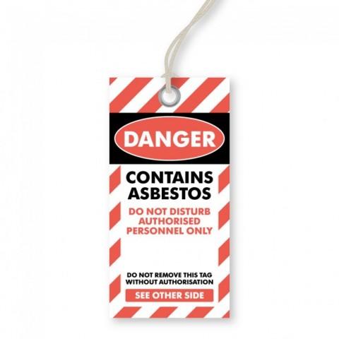 Danger - Asbestos Tags