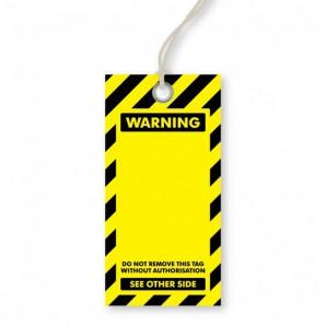 Blank Warning Tags