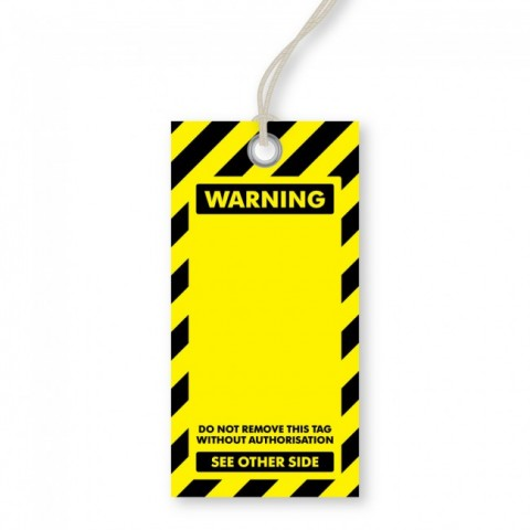 Blank Warning Tags