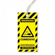 Warning - Corrosive Tags